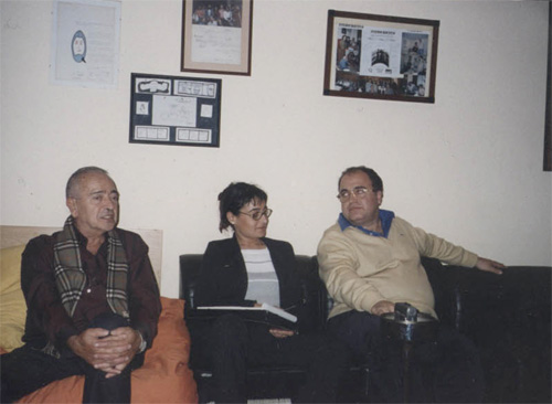 Taller de Covisión coordinado por el Dr. Hernán Kesselman, una integrante de Quipú y uno de sus fundadores, el Dr. Alejandro Ávila Espada.