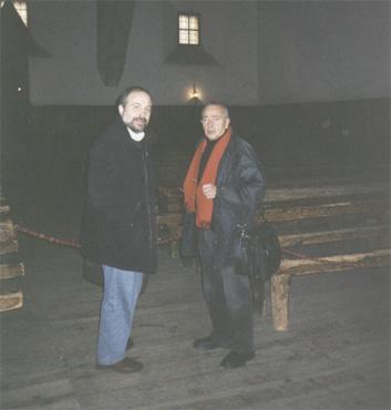 Dr. José Navarro Góngora y Dr. Hernán Kesselman, en el aula Miguel de Unamuno de la Universidad de Salamanca.