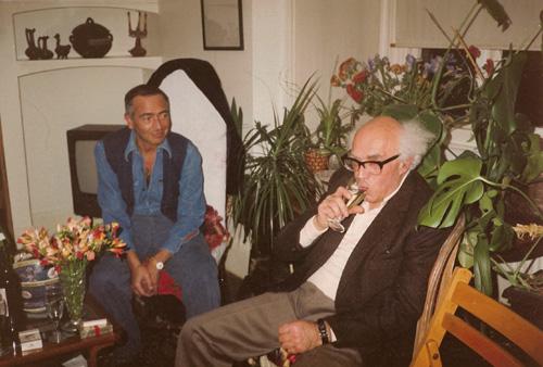 Hernán Kesselman con Aarón Esterson