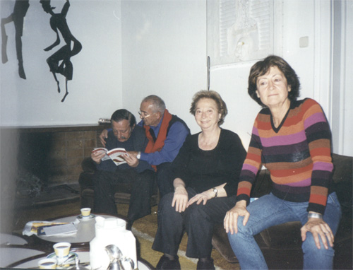 Dr. Valentín Baremblitt, Dr. Hernán Kesselman, Bibi Baremblitt y Susy Kesselman.
